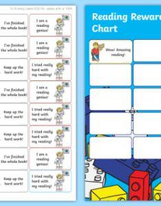 Ks building bricks themed reading sticker reward charts  home readers log also editable rh twinkl