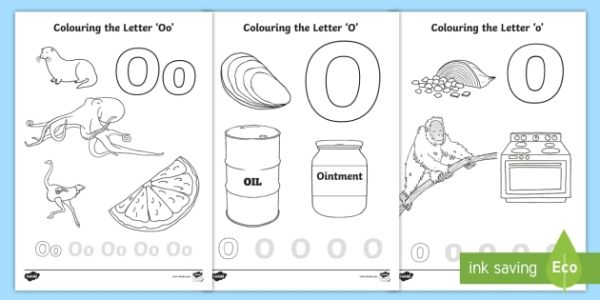 letter o coloring pages # 19