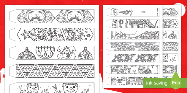 christmas mindfulness colouring paper