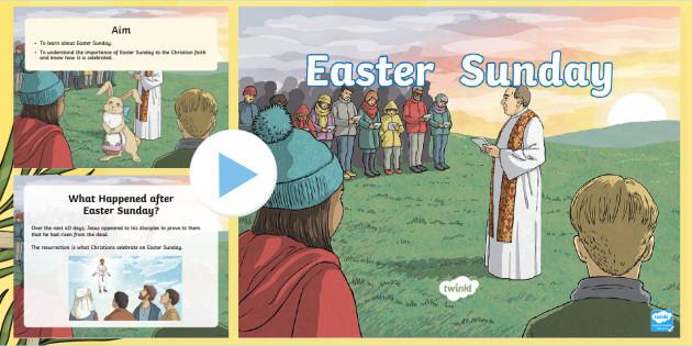 * New * Ks2 Easter Sunday Powerpoint  Christian, Jesus, Resurrection