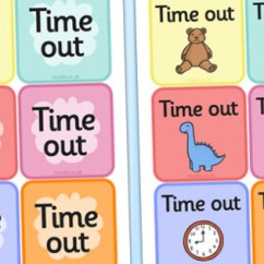 Chair For Autistic Child Wheelchair You Blow Into Time Out Cards - Sen, Out, Calm, Behaviour Management