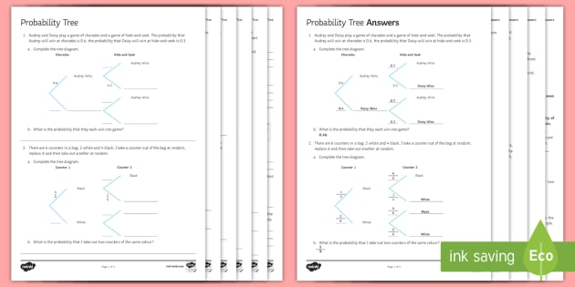 probability tree diagram example problems lanz bulldog wiring diagrams worksheet conditional combined events independent