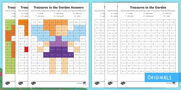 Treasures In The Garden Mixed Operations Maths Mosaics