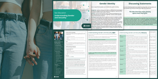 Secondary RSE / PSHE: Understanding Gender and Sexuality Lesson Pack