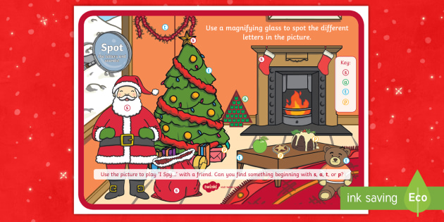 * New * Christmas Spot The Phase 2 Letters And Sounds Activity  Phase 2
