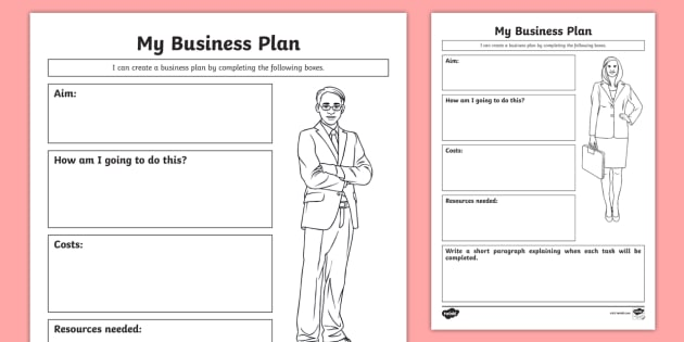 My Business Plan Worksheet