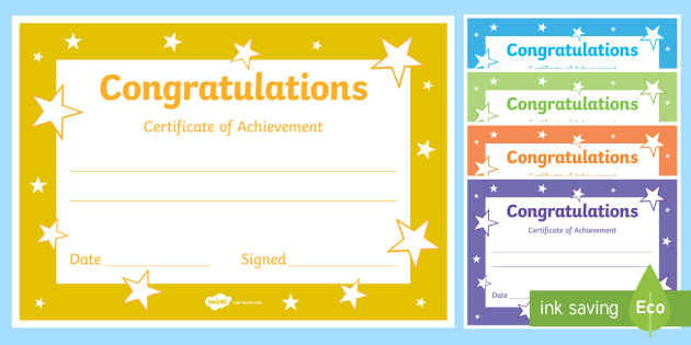 Congratulations Certificate Templates Blank