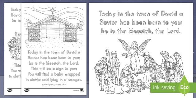 Luke 211 12 Manger Scene Mindfulness Colouring Page Bible