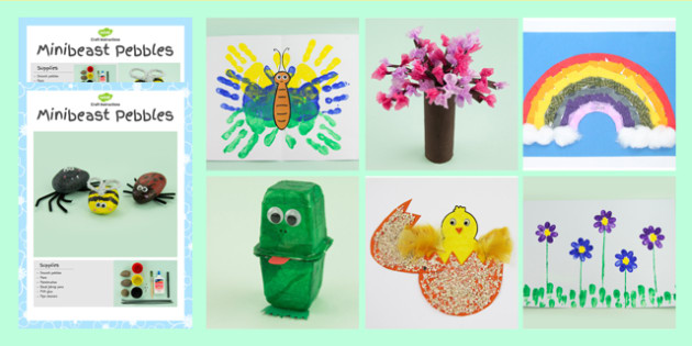 Spring Craft Activity Pack Teaching Resource Twinkl
