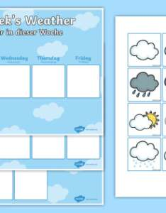 Weekly weather recording chart activity english german eal also rh twinkl