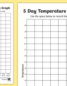 Five day temperature recording celsius worksheet weather days week record also rh twinkl