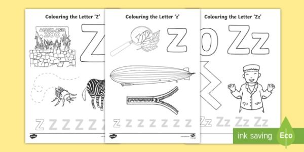 letter z coloring page # 59