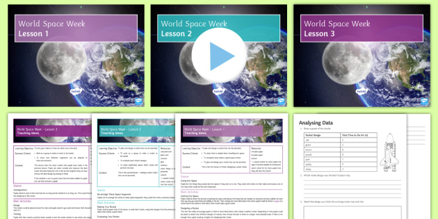 World Space Week Making Rockets Lesson Pack