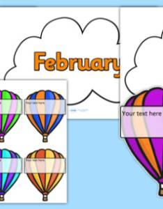 Editable hot air balloon birthday display also rh twinkl