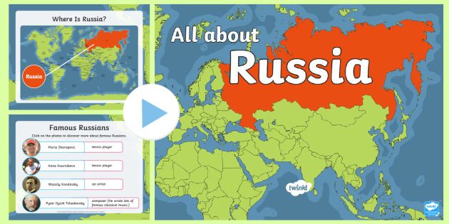 * New * Eyfsks1 All About Russia Information Powerpoint  World