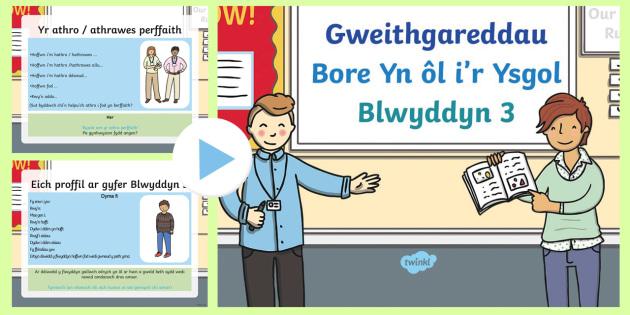 * New * Pŵerbwynt Gweithgareddau Bore Yn Ol I'r Ysgol Blwyddyn
