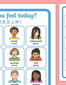 Emotions chart poster english mandarin chinese how do also you feel today rh twinkl