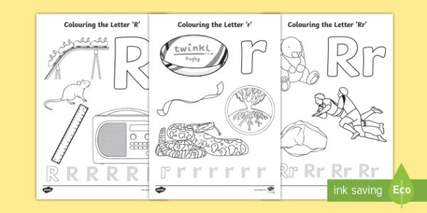 letter r coloring page # 17