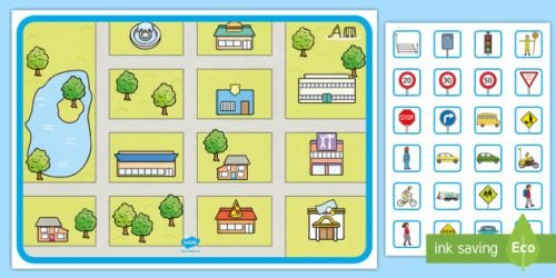 Blank Town Map Template Build a Town Teaching Resources