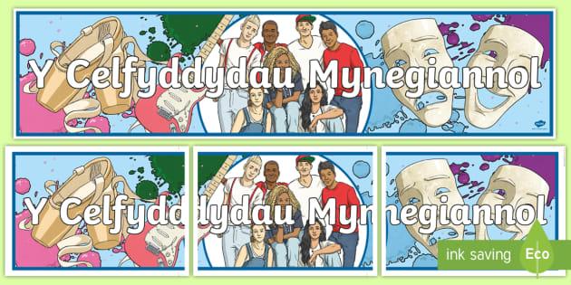 * New * Baner Arddangos Y Celfyddydau Mynegiannol Ca2