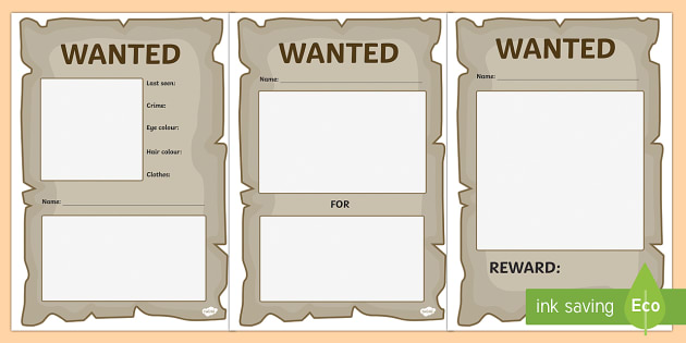 free wanted posters templates