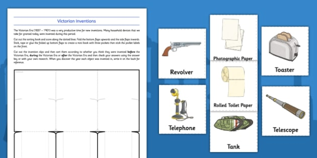 Victorian Inventions Ks2 Sorting Activity Teacher Made
