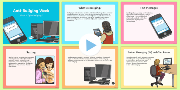 Cyberbullying PowerPoint Priority Resources Bullying