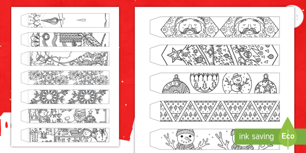 christmas mindfulness coloring paper