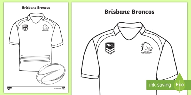 brisbane broncos colouring page (teacher made)