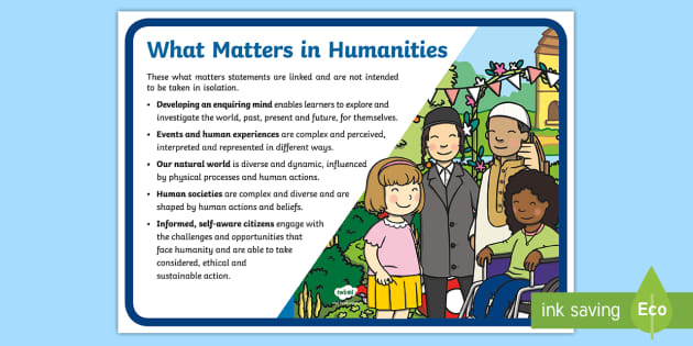 * New * Fp What Matters Humanities Display Poster
