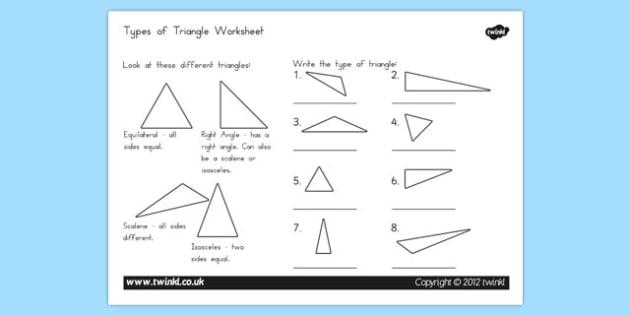 Types Of Triangle Worksheet Teacher Made