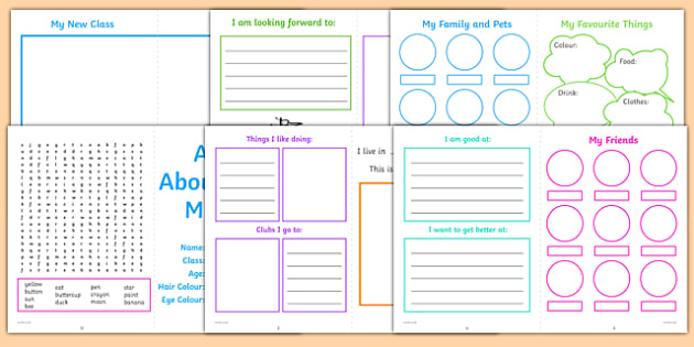 All About Me Ks1 Activity Booklet  Ks1 New Class Activities