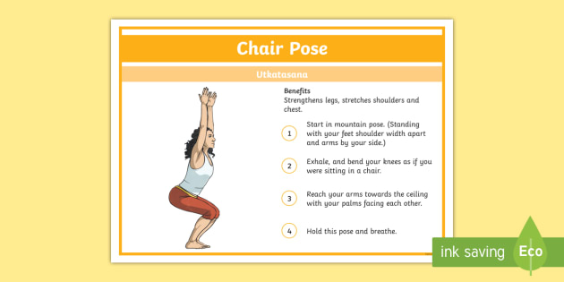 yoga chair pose reclining outdoor chairs step by instructions health stress calm