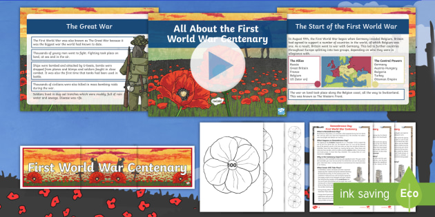 * New * Uks2 All About The First World War Centenary Resource