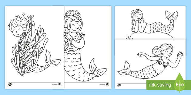 Mermaid Colouring Pages Free Mermaid Pictures To Print