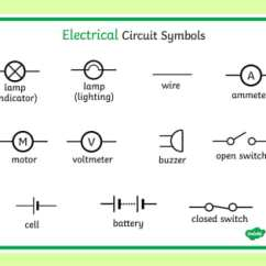 Universal Electric Motor Wiring Diagram 2004 Holden Rodeo Radio Electricity Circuit Symbols Word Mat -