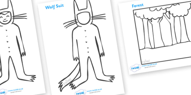 Colouring Sheets to Support Teaching on Where the Wild Things