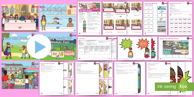 * New * Recap Level 3 Part 2 Level 3 Week 9 Weekly Lesson Pack  Phonics