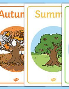 Four seasons display posters season autumn winter spring summer also rh twinkl