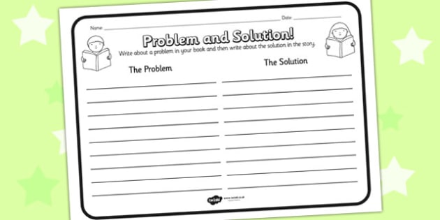 Problem Solution Reading Comprehension Activity