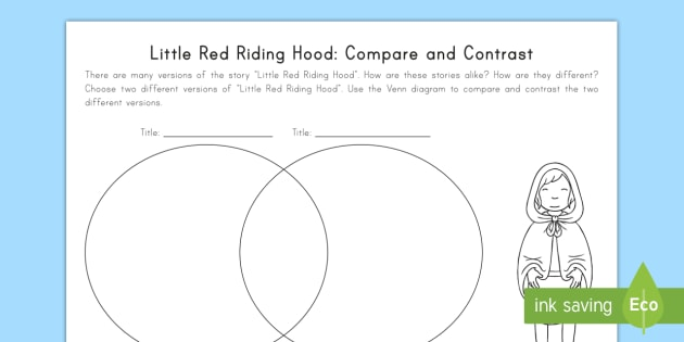 using a venn diagram to compare and contrast tv wiring little red riding hood worksheet big bad wolf use this