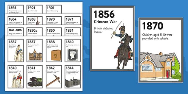 The Victorians Zig Zag Timeline