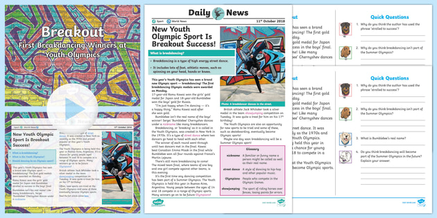 * New * Uks2 Youth Olympics Daily News Resource Pack  Youth
