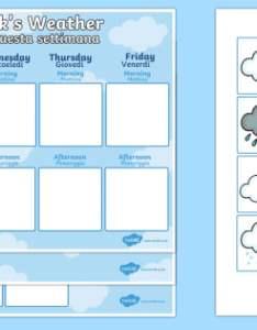 Weekly weather recording chart english italian calendar also rh twinkl