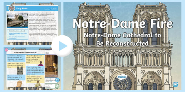 * New * Lks2 Notredame Fire Daily News Powerpoint