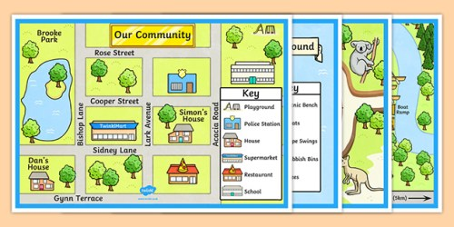 Town and Tourist Attraction Maps teacher made