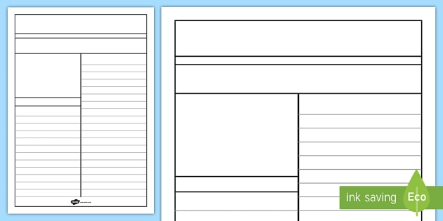 Newspaper Format Template For Word