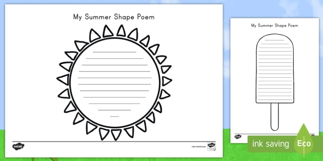 Manuscript template for authors submitting articles the journal has provided a standard manuscript template (48 kb, 5 pages) that is most applicable to the longer format article types (for example, only perspective, synopsis, research, poli. Shape Poems For Kids Ela Teaching Resources Twinkl