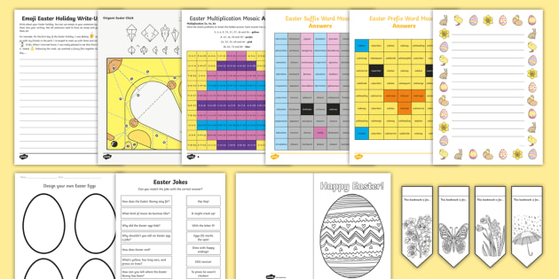 * New * Ks2 Top 10 Easter Activities Resource Pack  Easter Holiday, Half