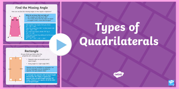 * New * Types Of Quadrilateral Powerpoint  Ks2, Maths, Powerpoint, Shape